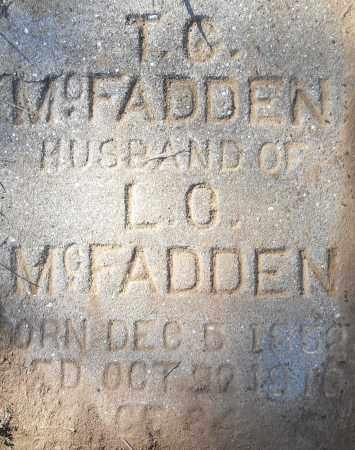 MCFADDEN, T G - Pulaski County, Arkansas | T G MCFADDEN - Arkansas Gravestone Photos