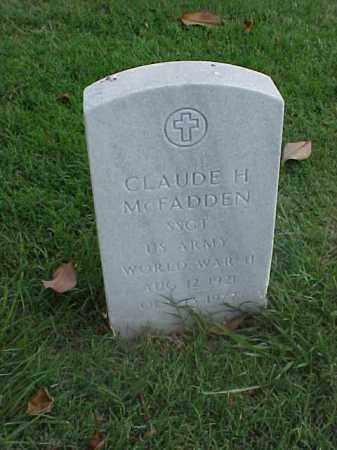 MCFADDEN (VETERAN WWII), CLAUDE H - Pulaski County, Arkansas   CLAUDE H MCFADDEN (VETERAN WWII) - Arkansas Gravestone Photos
