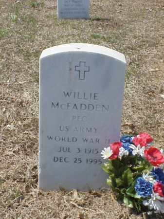 MCFADDEN (VETERAN WWII), WILLIE - Pulaski County, Arkansas | WILLIE MCFADDEN (VETERAN WWII) - Arkansas Gravestone Photos