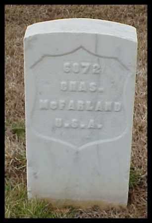 MCFARLAND (VETERAN UNION), CHARLES - Pulaski County, Arkansas | CHARLES MCFARLAND (VETERAN UNION) - Arkansas Gravestone Photos