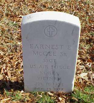 MCGEE, SR (VETERAN 2 WARS), EARNEST E - Pulaski County, Arkansas | EARNEST E MCGEE, SR (VETERAN 2 WARS) - Arkansas Gravestone Photos
