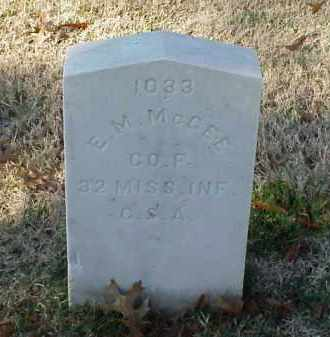 MCGEE (VETERAN CSA), E M - Pulaski County, Arkansas | E M MCGEE (VETERAN CSA) - Arkansas Gravestone Photos