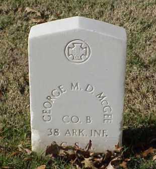 MCGEE (VETERAN CSA), GEORGE M D - Pulaski County, Arkansas | GEORGE M D MCGEE (VETERAN CSA) - Arkansas Gravestone Photos