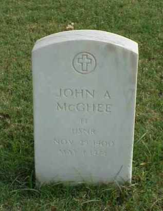 MCGHEE (VETERAN 2 WARS), JOHN ANDREW - Pulaski County, Arkansas   JOHN ANDREW MCGHEE (VETERAN 2 WARS) - Arkansas Gravestone Photos