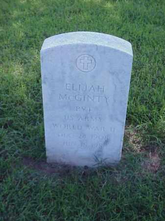 MCGINTY (VETERAN WWII), ELIJAH - Pulaski County, Arkansas | ELIJAH MCGINTY (VETERAN WWII) - Arkansas Gravestone Photos