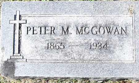 MCGOWAN, PETER M - Pulaski County, Arkansas | PETER M MCGOWAN - Arkansas Gravestone Photos