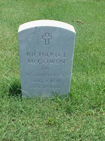 MCGOWEN (VETERAN), RICHARD L - Pulaski County, Arkansas | RICHARD L MCGOWEN (VETERAN) - Arkansas Gravestone Photos