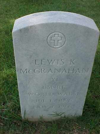 MCGRANAHAN (VETERAN WWI), LEWIS KOSSUTH - Pulaski County, Arkansas | LEWIS KOSSUTH MCGRANAHAN (VETERAN WWI) - Arkansas Gravestone Photos