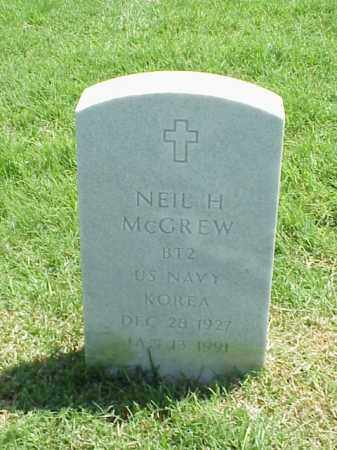 MCGREW (VETERAN KOR), NEIL H - Pulaski County, Arkansas | NEIL H MCGREW (VETERAN KOR) - Arkansas Gravestone Photos
