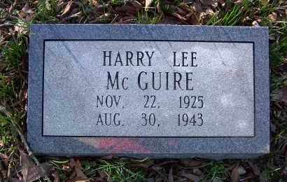 MCGUIRE, HARRY LEE - Pulaski County, Arkansas | HARRY LEE MCGUIRE - Arkansas Gravestone Photos