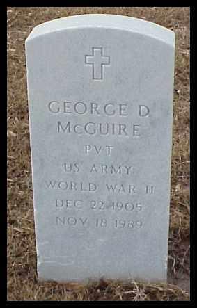 MCGUIRE (VETERAN WWII), GEORGE D - Pulaski County, Arkansas | GEORGE D MCGUIRE (VETERAN WWII) - Arkansas Gravestone Photos