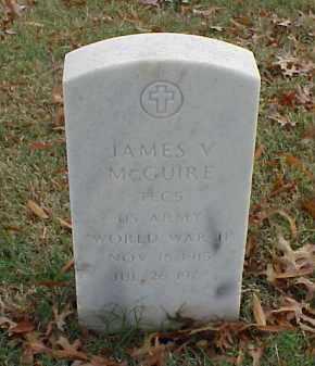 MCGUIRE (VETERAN WWII), JAMES V - Pulaski County, Arkansas   JAMES V MCGUIRE (VETERAN WWII) - Arkansas Gravestone Photos