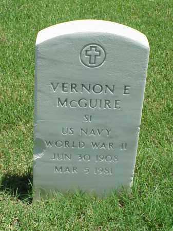 MCGUIRE (VETERAN WWII), VERNON E - Pulaski County, Arkansas | VERNON E MCGUIRE (VETERAN WWII) - Arkansas Gravestone Photos