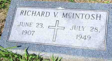 MCINTOSH, RICHARD V - Pulaski County, Arkansas | RICHARD V MCINTOSH - Arkansas Gravestone Photos