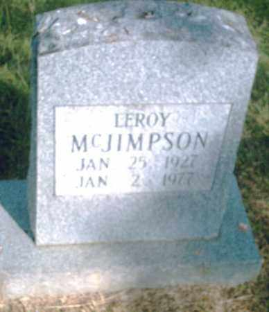 MCJIMPSON, LEROY - Pulaski County, Arkansas | LEROY MCJIMPSON - Arkansas Gravestone Photos