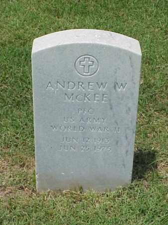 MCKEE (VETERAN WWII), ANDREW W - Pulaski County, Arkansas | ANDREW W MCKEE (VETERAN WWII) - Arkansas Gravestone Photos