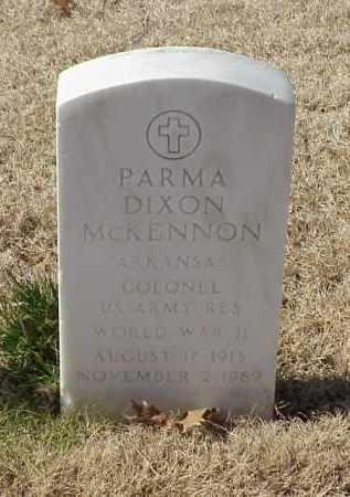 MCKENNON (VETERAN WWII), PARMA DIXON - Pulaski County, Arkansas   PARMA DIXON MCKENNON (VETERAN WWII) - Arkansas Gravestone Photos