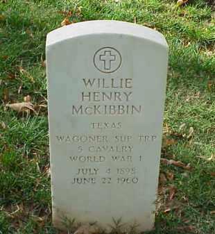 MCKIBBIN (VETERAN WWI), WILLIE HENRY - Pulaski County, Arkansas | WILLIE HENRY MCKIBBIN (VETERAN WWI) - Arkansas Gravestone Photos