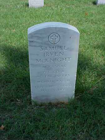 MCKNIGHT (VETERAN WWII), SAMUEL IRVEN - Pulaski County, Arkansas | SAMUEL IRVEN MCKNIGHT (VETERAN WWII) - Arkansas Gravestone Photos