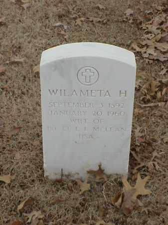 MCLEAN, WILAMETA H - Pulaski County, Arkansas | WILAMETA H MCLEAN - Arkansas Gravestone Photos