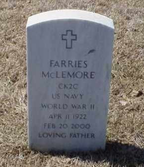 MCLEMORE (VETERAN WWII), FARRIES - Pulaski County, Arkansas | FARRIES MCLEMORE (VETERAN WWII) - Arkansas Gravestone Photos