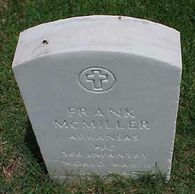 MCMILLER (VETERAN WWII), FRANK - Pulaski County, Arkansas   FRANK MCMILLER (VETERAN WWII) - Arkansas Gravestone Photos