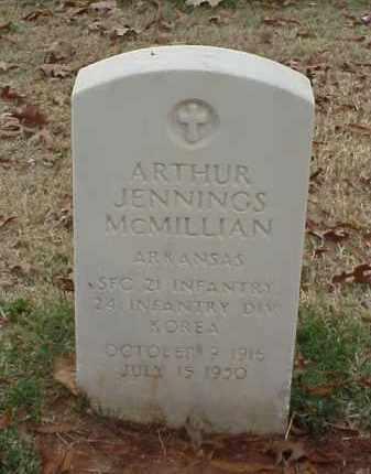 MCMILLIAN (VETERAN KOR), ARTHUR JENNINGS - Pulaski County, Arkansas | ARTHUR JENNINGS MCMILLIAN (VETERAN KOR) - Arkansas Gravestone Photos