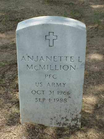 MCMILLION (VETERAN), ANJANETTE L - Pulaski County, Arkansas | ANJANETTE L MCMILLION (VETERAN) - Arkansas Gravestone Photos