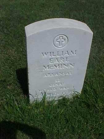 MCMINN (VETERAN WWI), WILLIAM EARL - Pulaski County, Arkansas | WILLIAM EARL MCMINN (VETERAN WWI) - Arkansas Gravestone Photos