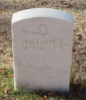 MCMULLEN (VETERAN SAW), WILLIAM F - Pulaski County, Arkansas | WILLIAM F MCMULLEN (VETERAN SAW) - Arkansas Gravestone Photos