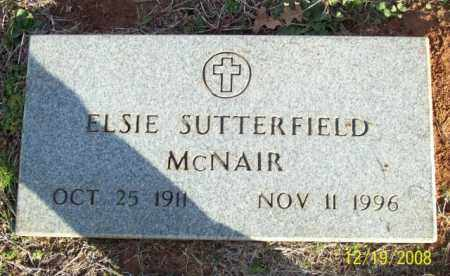 SUTTERFIELD MCNAIR, ELSIE - Pulaski County, Arkansas | ELSIE SUTTERFIELD MCNAIR - Arkansas Gravestone Photos