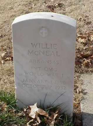 MCNEAL (VETERAN WWI), WILLIE - Pulaski County, Arkansas   WILLIE MCNEAL (VETERAN WWI) - Arkansas Gravestone Photos