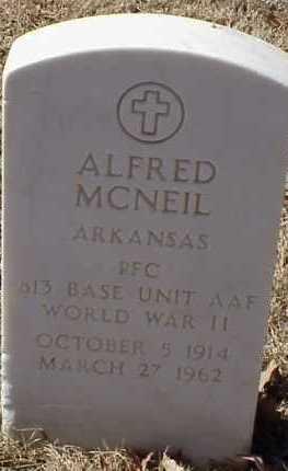 MCNEIL  (VETERAN WWII), ALFRED - Pulaski County, Arkansas | ALFRED MCNEIL  (VETERAN WWII) - Arkansas Gravestone Photos