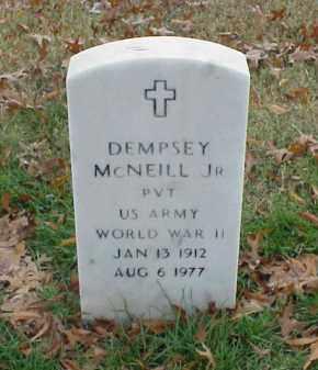 MCNEILL, JR (VETERAN WWII), DEMPSEY - Pulaski County, Arkansas   DEMPSEY MCNEILL, JR (VETERAN WWII) - Arkansas Gravestone Photos