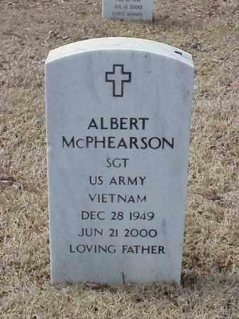 MCPHEARSON  (VETERAN VIET), ALBERT - Pulaski County, Arkansas | ALBERT MCPHEARSON  (VETERAN VIET) - Arkansas Gravestone Photos