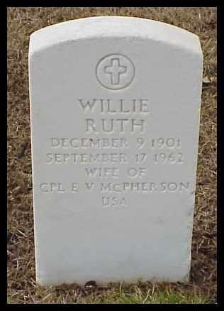 MCPHERSON, WILLIE RUTH - Pulaski County, Arkansas | WILLIE RUTH MCPHERSON - Arkansas Gravestone Photos
