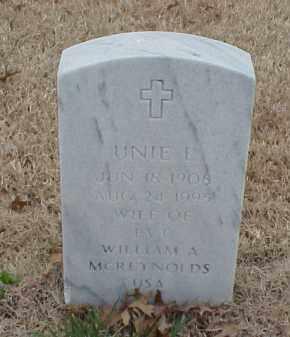 MCREYNOLDS, UNIE E - Pulaski County, Arkansas | UNIE E MCREYNOLDS - Arkansas Gravestone Photos