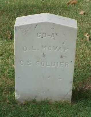 MCVAY (VETERAN CSA), D L - Pulaski County, Arkansas   D L MCVAY (VETERAN CSA) - Arkansas Gravestone Photos