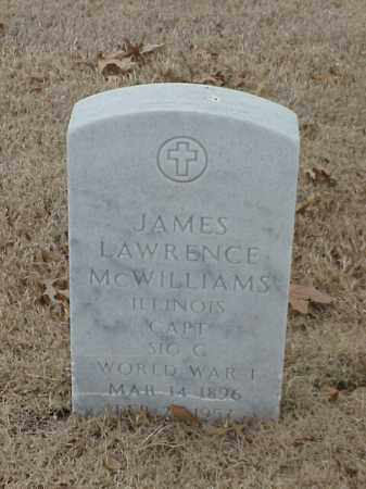 MCWILLIAMS (VETERAN WWI), JAMES LAWRENCE - Pulaski County, Arkansas | JAMES LAWRENCE MCWILLIAMS (VETERAN WWI) - Arkansas Gravestone Photos