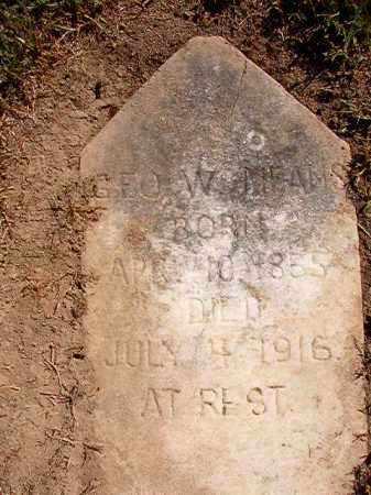 MEANS, GEORGE W. - Pulaski County, Arkansas   GEORGE W. MEANS - Arkansas Gravestone Photos