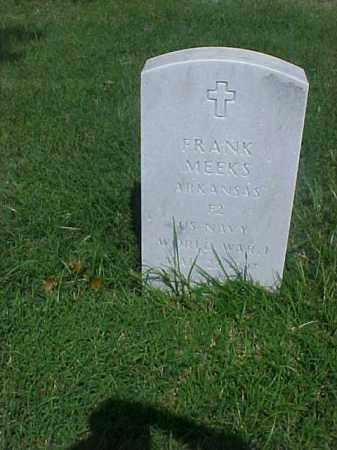 MEEKS (VETERAN WWI), FRANK - Pulaski County, Arkansas | FRANK MEEKS (VETERAN WWI) - Arkansas Gravestone Photos