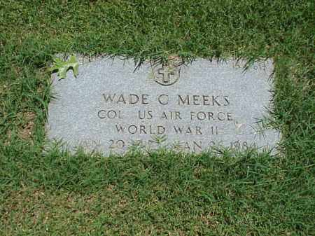 MEEKS (VETERAN WWII), WADE C - Pulaski County, Arkansas | WADE C MEEKS (VETERAN WWII) - Arkansas Gravestone Photos