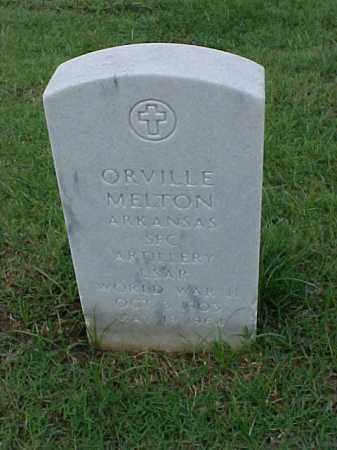 MELTON (VETERAN WWII), ORVILLE - Pulaski County, Arkansas | ORVILLE MELTON (VETERAN WWII) - Arkansas Gravestone Photos