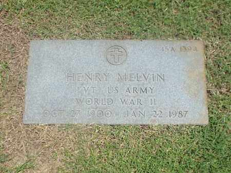 MELVIN (VETERAN WWII), HENRY - Pulaski County, Arkansas | HENRY MELVIN (VETERAN WWII) - Arkansas Gravestone Photos