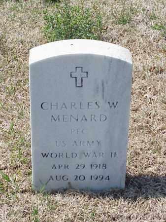 MENARD (VETERAN WWII), CHARLES W - Pulaski County, Arkansas   CHARLES W MENARD (VETERAN WWII) - Arkansas Gravestone Photos