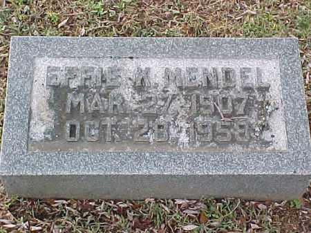MENDEL, EFFIE K - Pulaski County, Arkansas   EFFIE K MENDEL - Arkansas Gravestone Photos