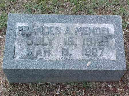 MENDEL, FRANCES A - Pulaski County, Arkansas | FRANCES A MENDEL - Arkansas Gravestone Photos