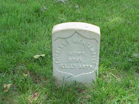 MENTEMEYER (VETERAN UNION), CHARLES F - Pulaski County, Arkansas | CHARLES F MENTEMEYER (VETERAN UNION) - Arkansas Gravestone Photos