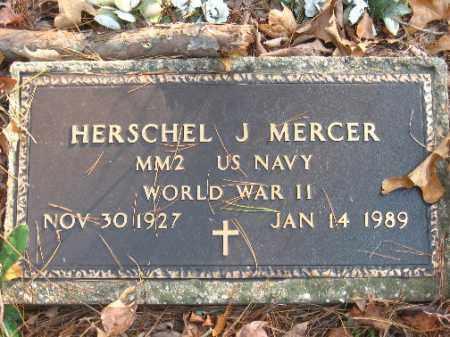 MERCER (VETERAN WWII), HERSCHEL J - Pulaski County, Arkansas   HERSCHEL J MERCER (VETERAN WWII) - Arkansas Gravestone Photos