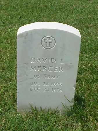 MERCER (VETERAN WWI), DAVID L - Pulaski County, Arkansas   DAVID L MERCER (VETERAN WWI) - Arkansas Gravestone Photos